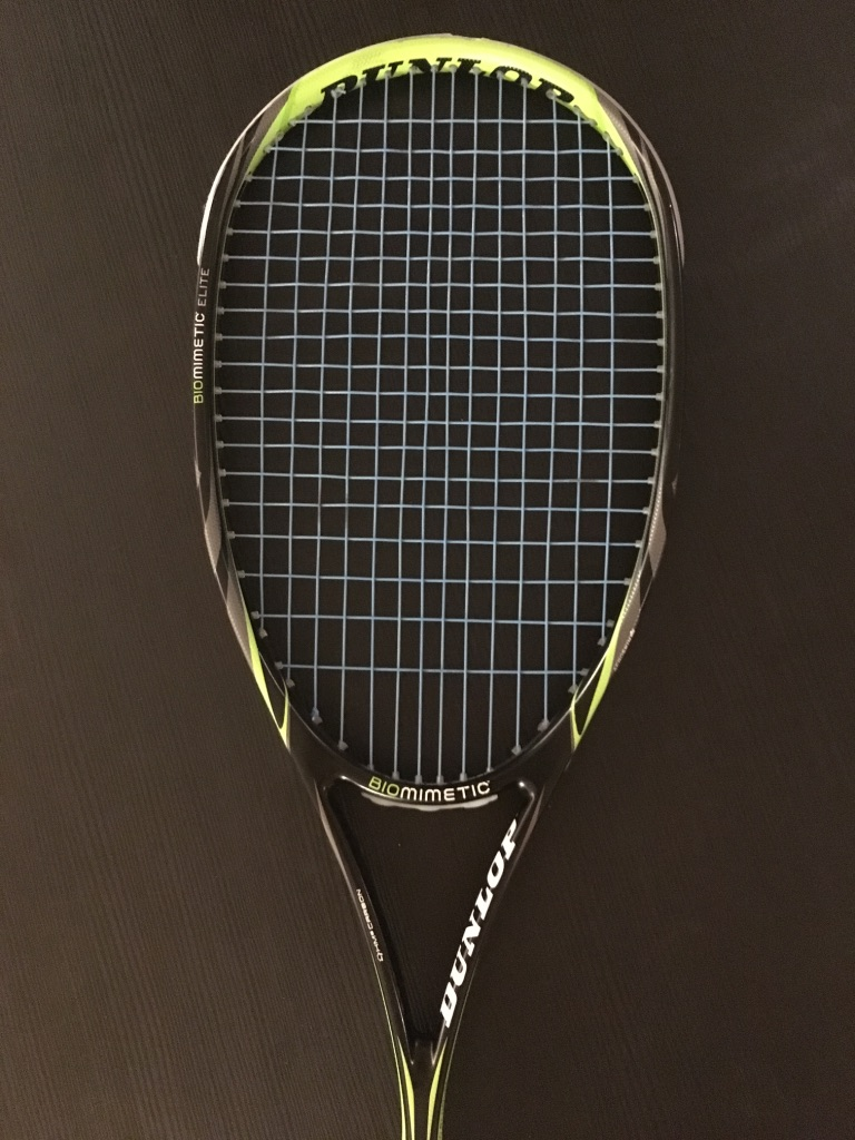open throat squash racket